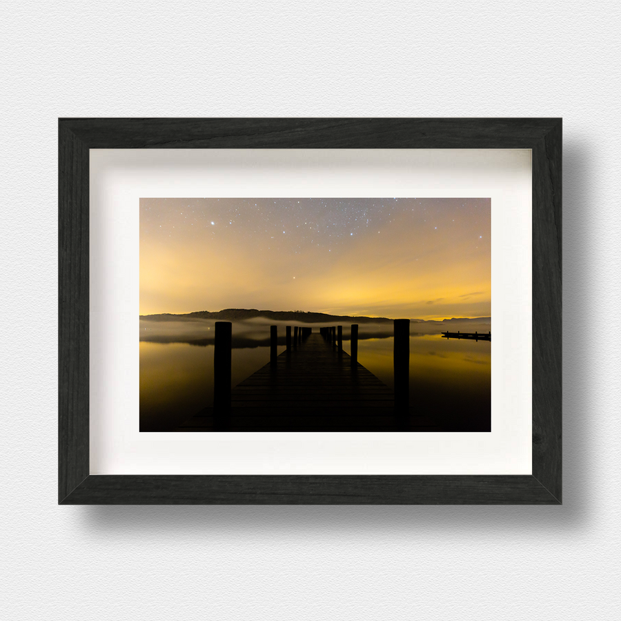 Lake District Art Print Lake Windemere at Night Nick Miners