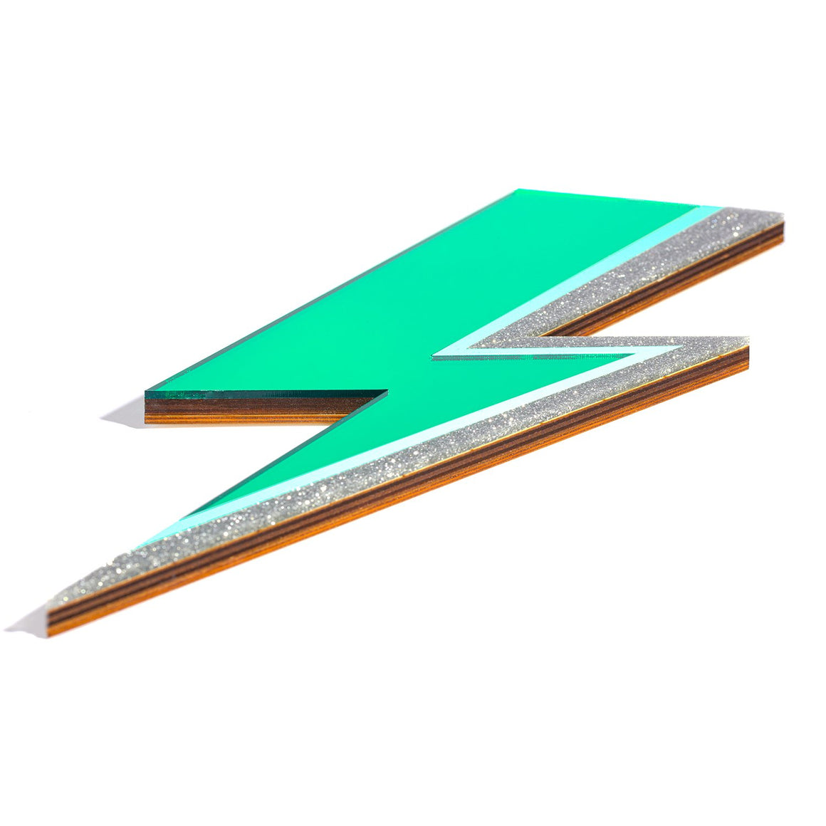 Rollerama Wholesale Green Lightning Bolt Mirror