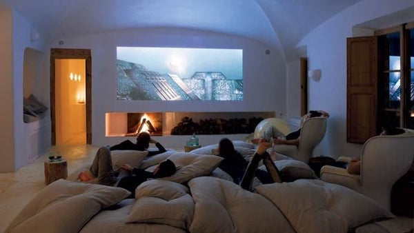 Home Theater with Portable Projector