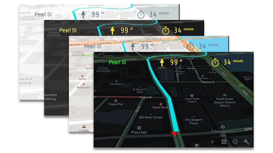Heads-up Display (HUD) APP's Displays