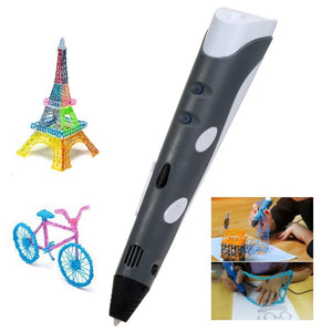 Drawing in the air becomes so easy with this 3D pen.