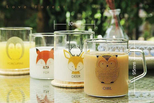 Animal Collection Glass Mug 动物系列玻璃杯 (Porcupine)
