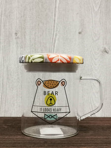 Seal Lid Animal Collection Glass Mug 密封盖动物系列玻璃杯 (Bear)