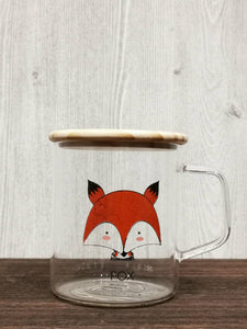 Animal Collection Glass Mug 动物系列玻璃杯 (Fox)