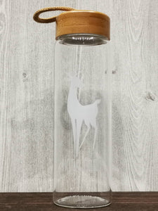 B&W Deer Collection Glass Bottle 黑白麋鹿玻璃瓶 (White)