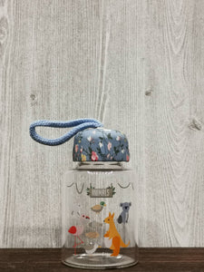 Cartoon Animal Collection Mini Glass Bottle 卡通动物迷你玻璃瓶 (Blue)