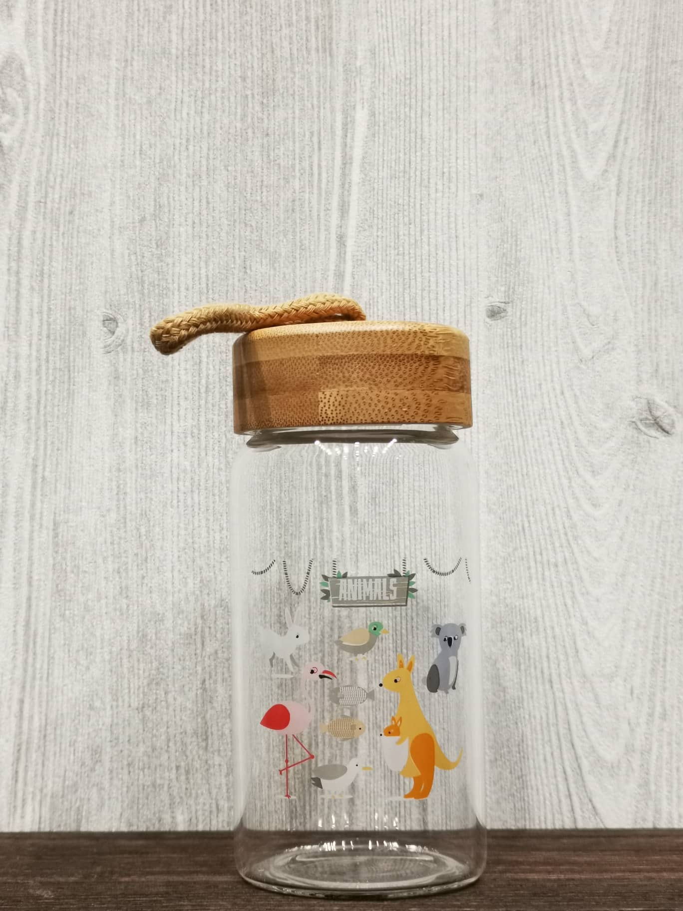 Cartoon Animal Collection Mini Bamboo Lid Glass Bottle 卡通系列迷你竹盖玻璃瓶(Animals)