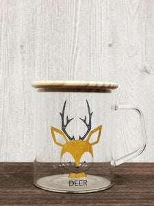 Animal Collection Glass Mug 动物系列玻璃杯 (Deer)