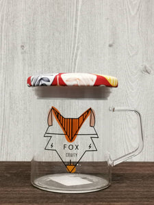 Seal Lid Animal Collection Glass Mug 密封盖动物系列玻璃杯 (Fox)