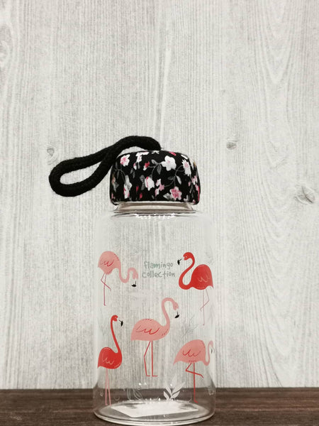 Flamingo Collection Glass Bottle 火烈鸟系列玻璃瓶 (Black)