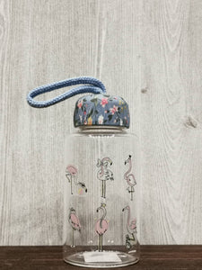 Flamingo Collection Glass Bottle 火烈鸟系列玻璃瓶 (Blue)
