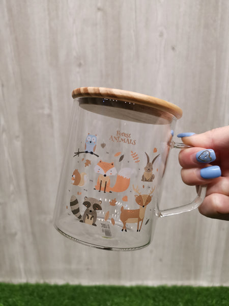 Forest Animals Glass Mug 森林动物玻璃杯