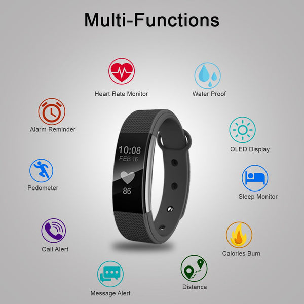 Health Monitor Fitness Tracker   多功能智能手环