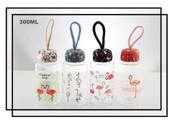 Flamingo Collection Glass Bottle 火烈鸟系列玻璃瓶 (Pink)