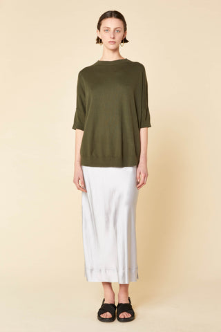 Cotton Cashmere Circle Hem Knit