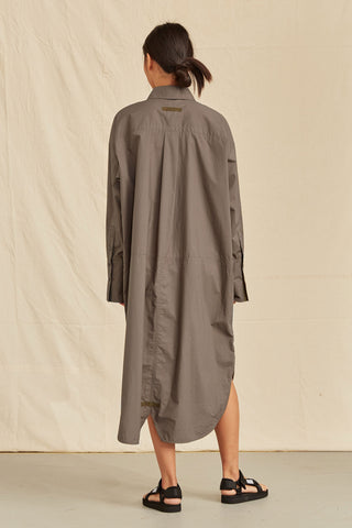 LM Poplin Long Sleeve Shirt Dress