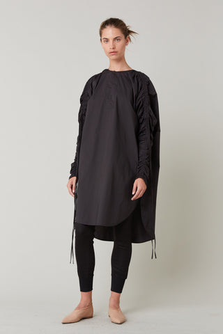 Lee Mathews | Tiggy Cotton Tunic in Black