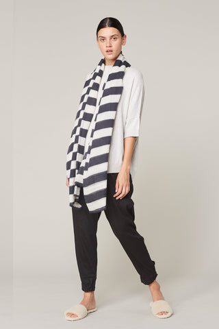 Lee Mathews | Wool Print Scarf in Stripe Print