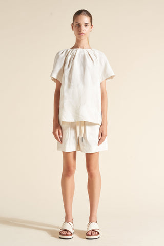 Alexa Darted Neck Tee