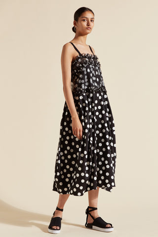 Cherry Spot Balloon Dress