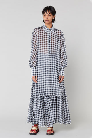 Joni Silk Shirt Dress