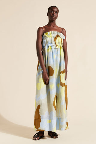 Kaho Scrunch Maxi Dress