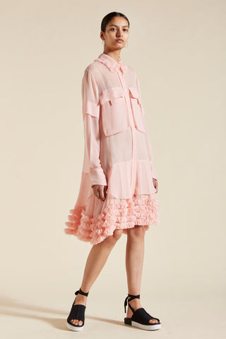 Kitty Long Sleeve Ruffle Hem Dress