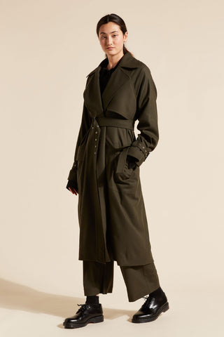 Logan Double Breasted Trench