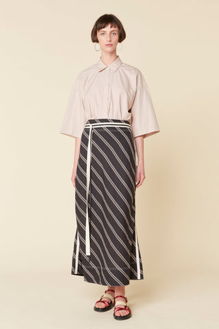 Madox Stripe Bias Skirt