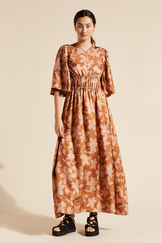 Momo Bell Sleeve Gathered Dress