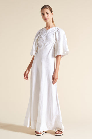 Nico Bell Sleeve Linen Bias Dress