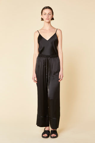 Rose Silk Satin Pant