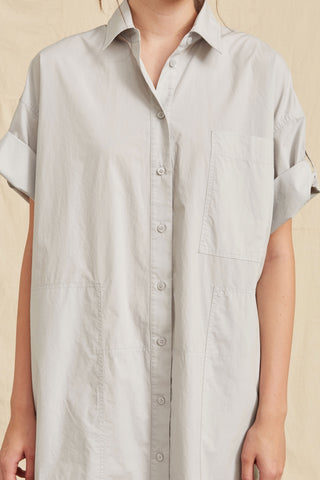 LM Poplin Short Sleeve Shirt Dress