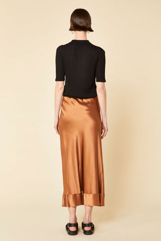 Stella Silk Satin Skirt