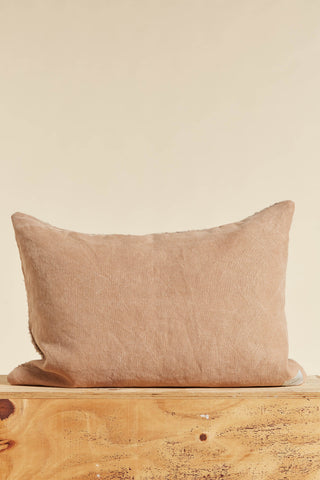 Belgian Linen & Wool Rectangle Cushion Large