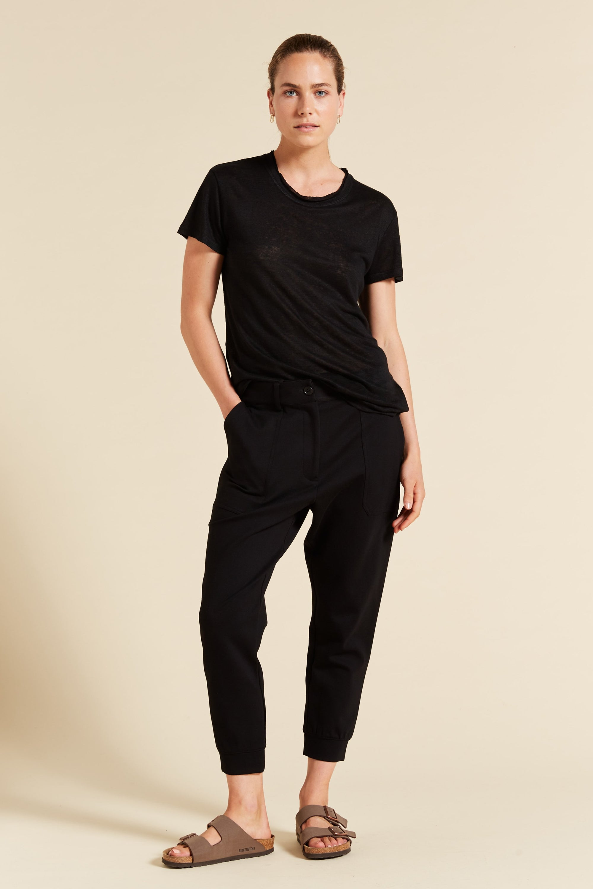 Relaxed Ponte Pant with Cuff