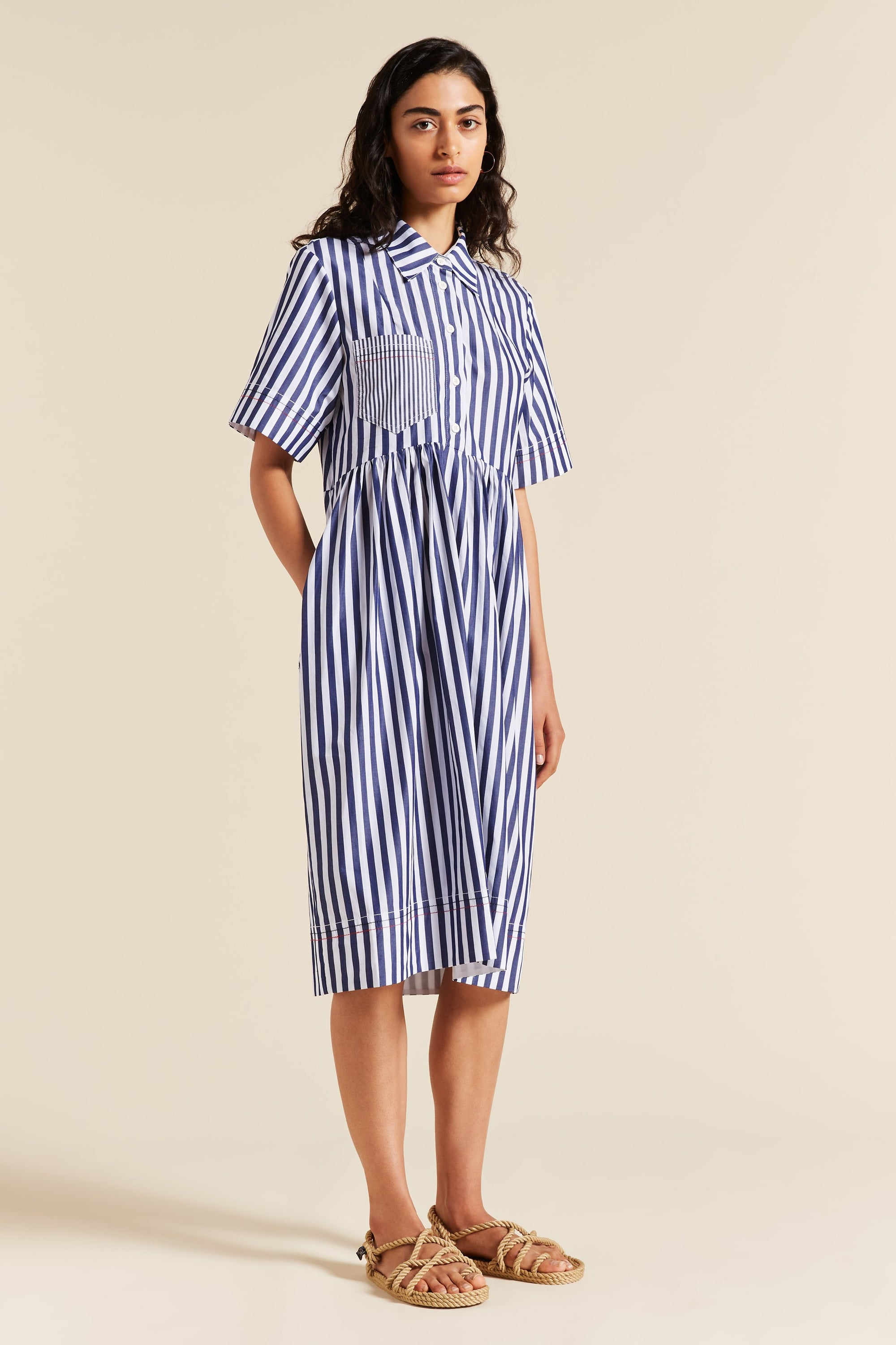 Whistler Stripe Tulip Dress
