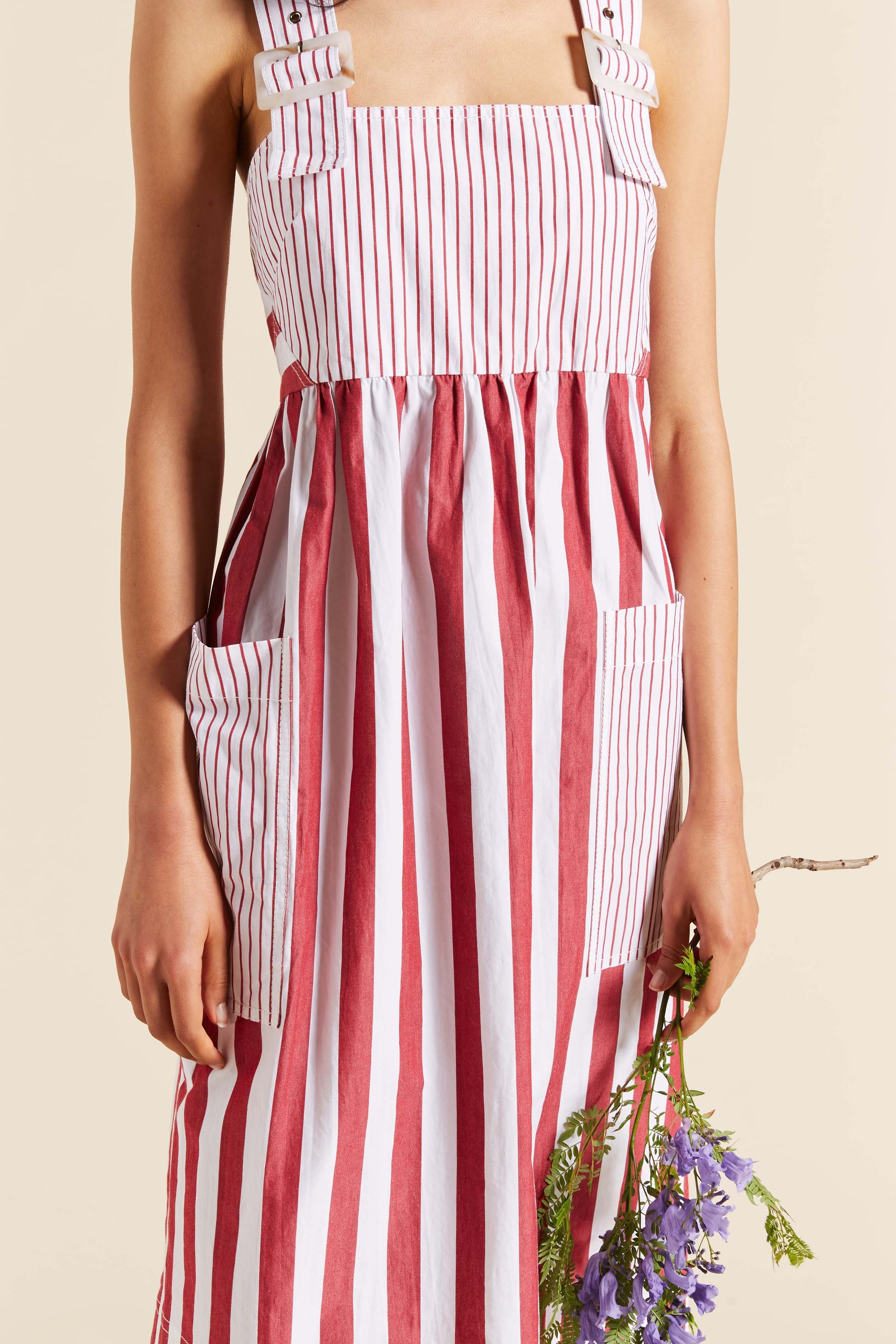 Rosella Stripe Apron Dress