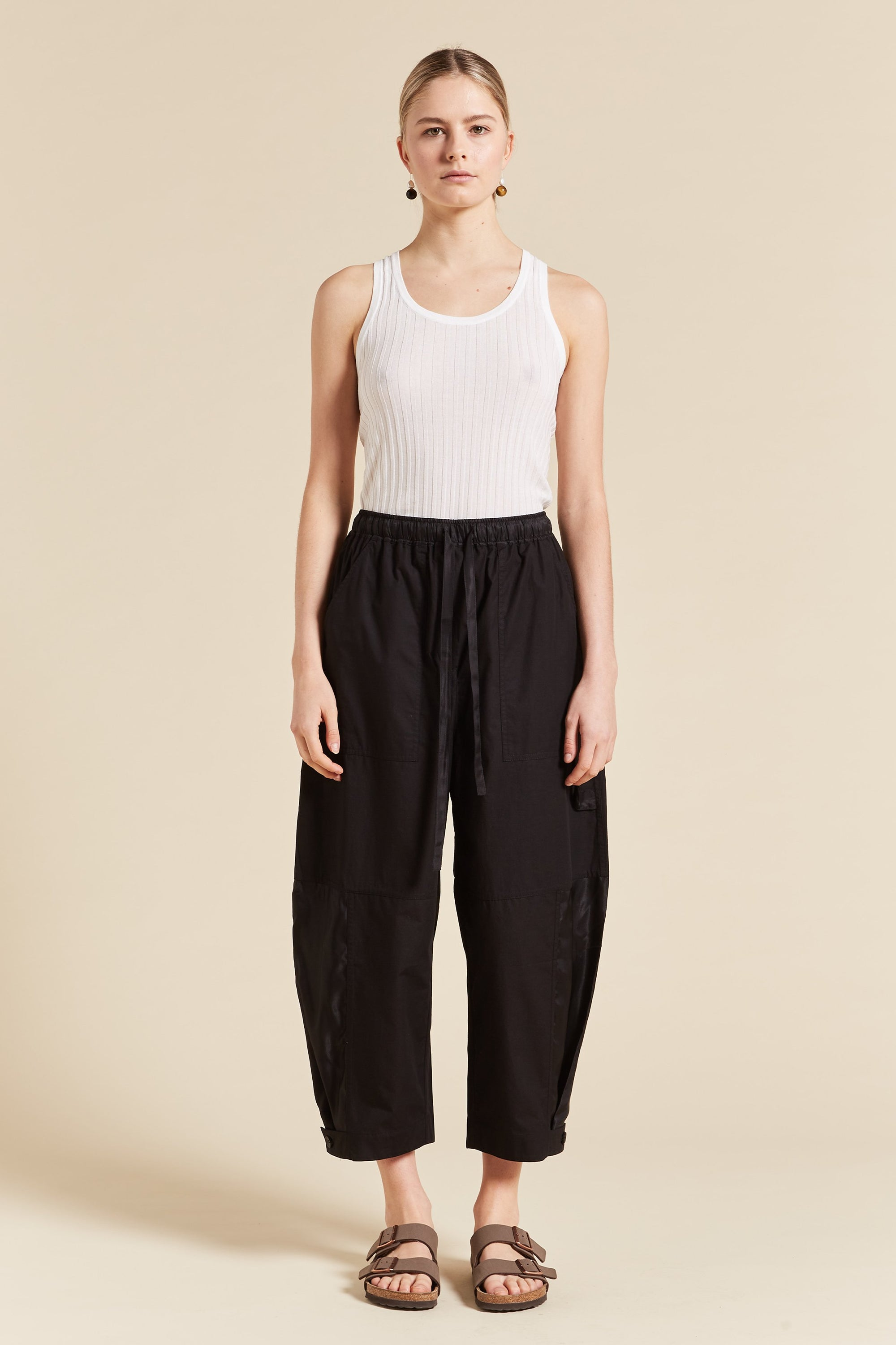Birder Spliced Wide Leg Pant
