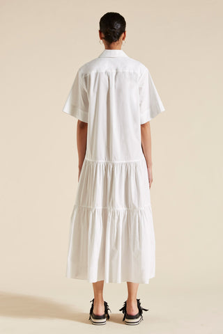 Elsie Short Sleeve Pleat Shirtdress