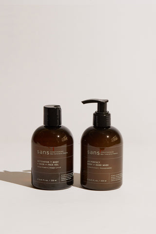Lee Mathews | Sans [Ceuticals] Bathroom Essentials Kit in Nero