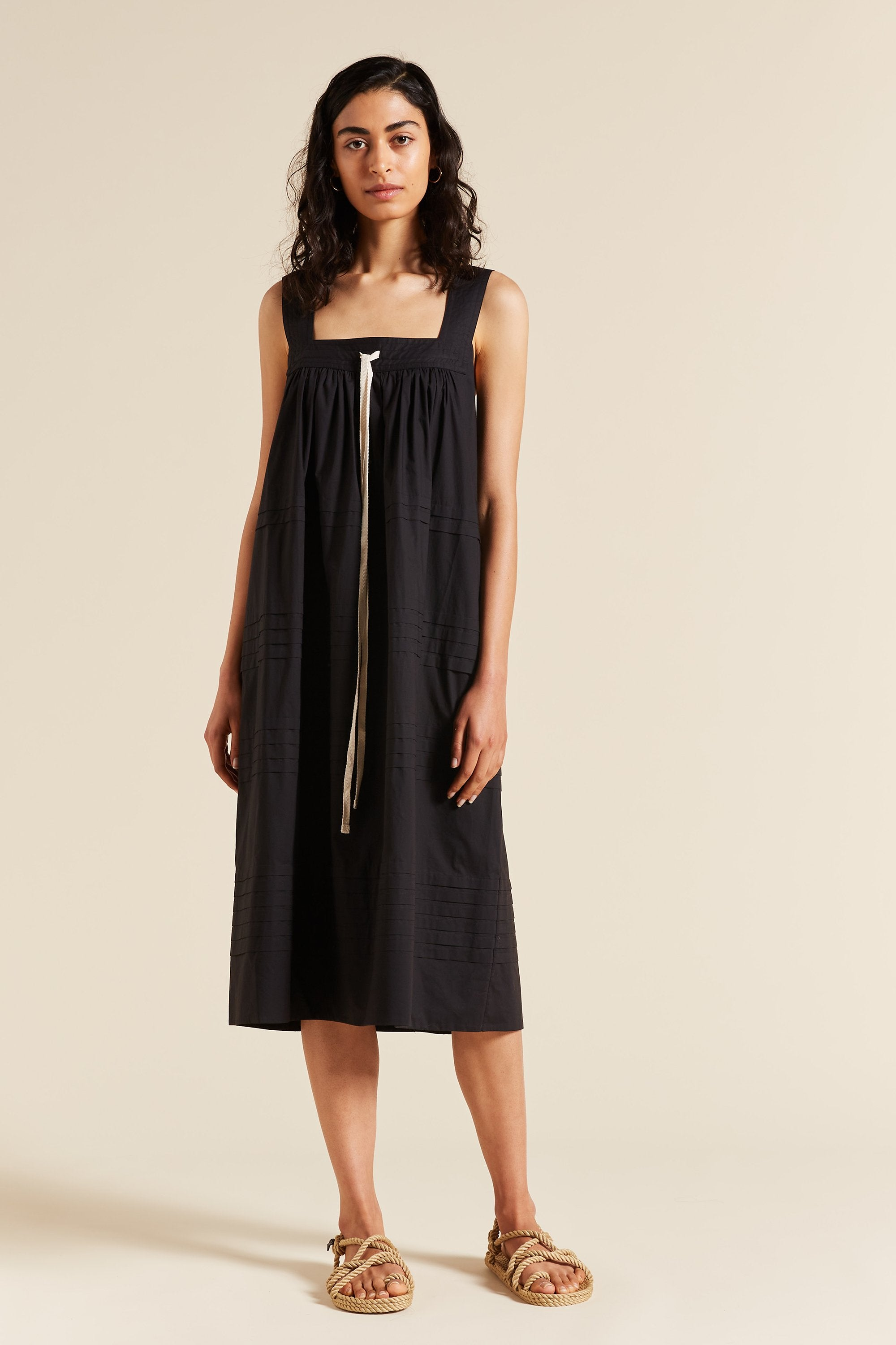 Robin Pleat Smock Dress