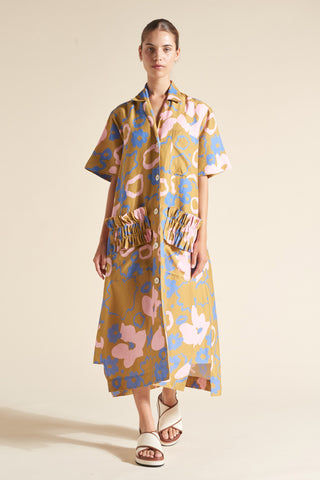 Goldie Side Godet Shirt Dress