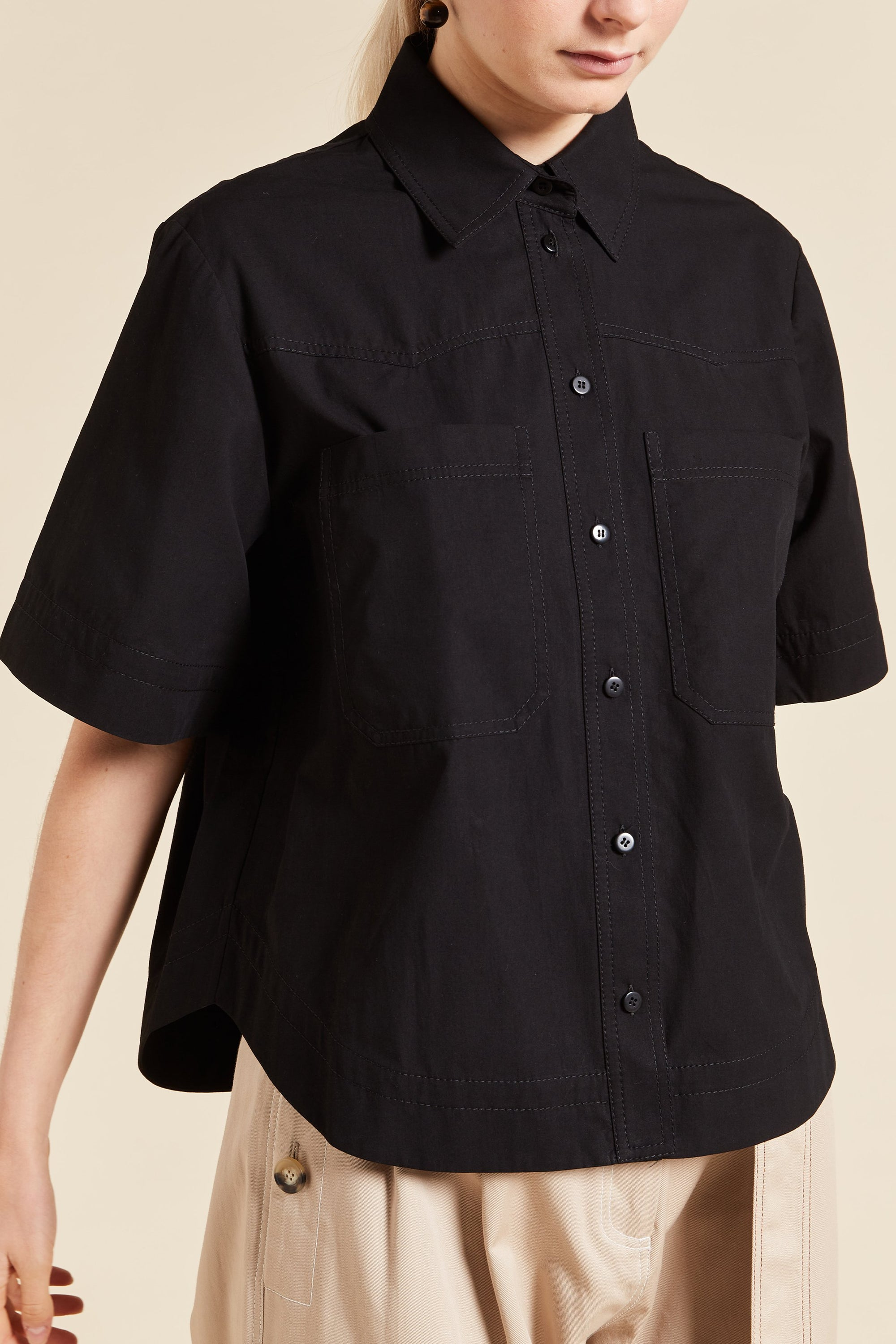 May Cropped Short Sleeve Shirt