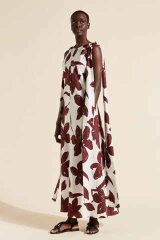 Sakura Silk Maxi Dress