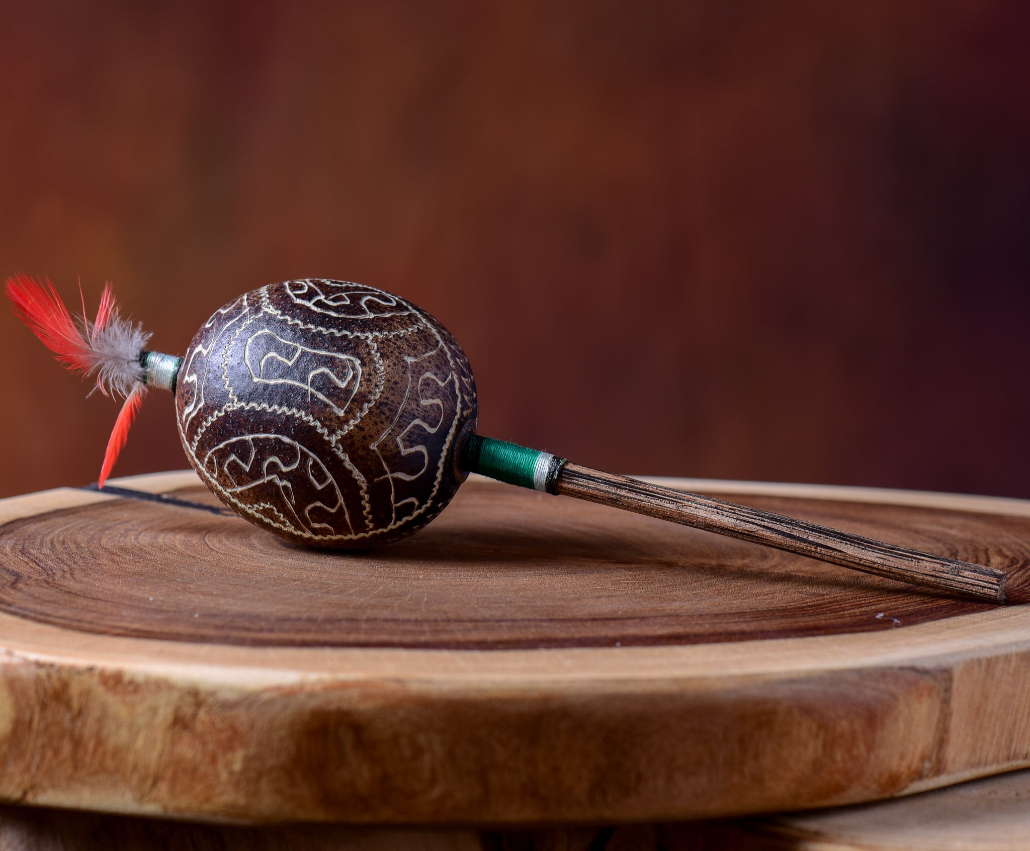 Small Shipibo Maraca The Ritual