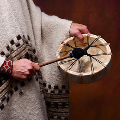 Shamanic Drum, Brown Bear, 25cm