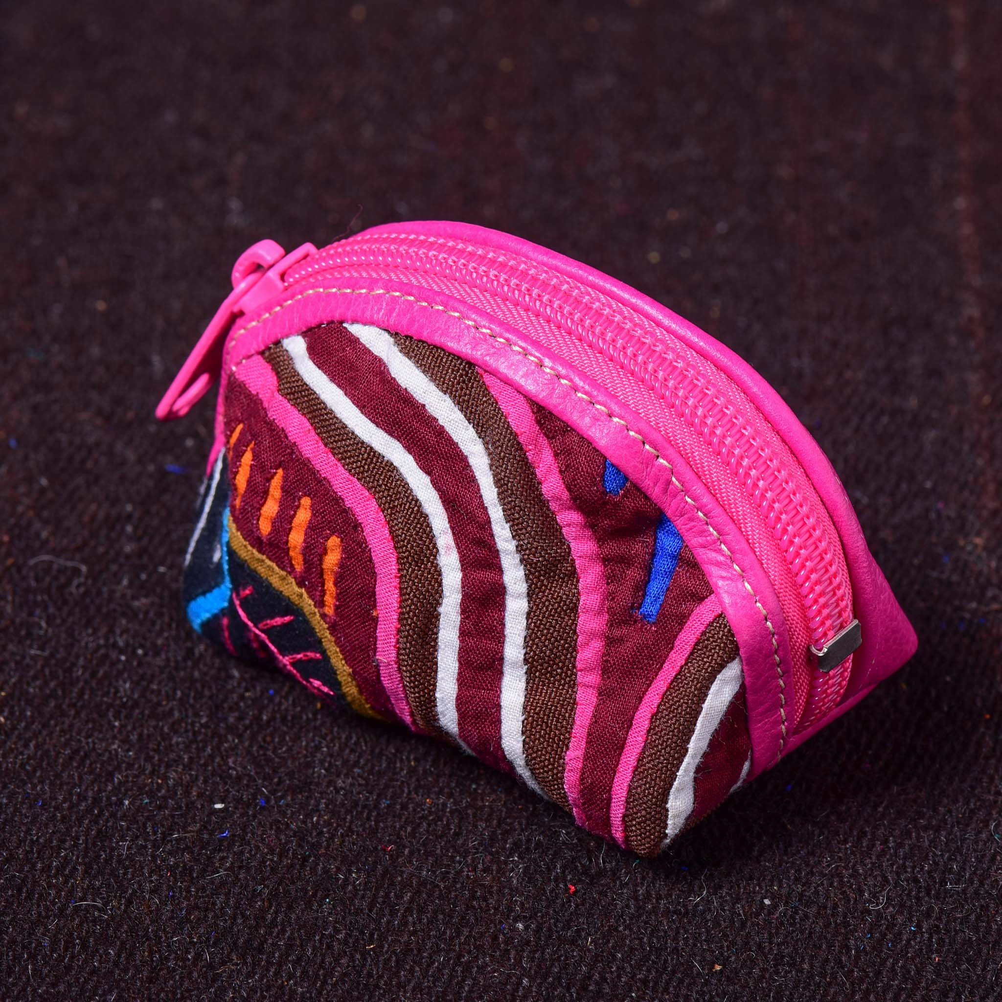 Redondo - Kuna Mola & Leather Purse pink