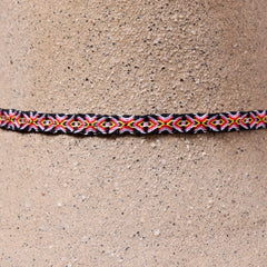Mhuysca Macrame Thin Bracelet Blue Eyes