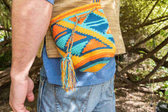 Wayuu Small Knitted Mochila Bag Orange